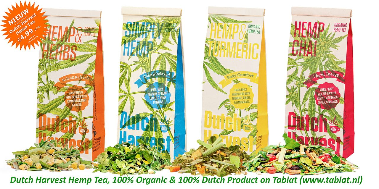 Dutch Harvest Hemp Tea Soorten