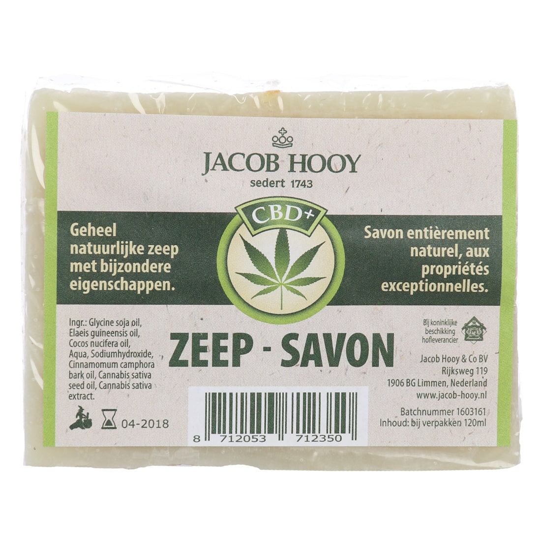 CBD Zeep Jacob Hooy